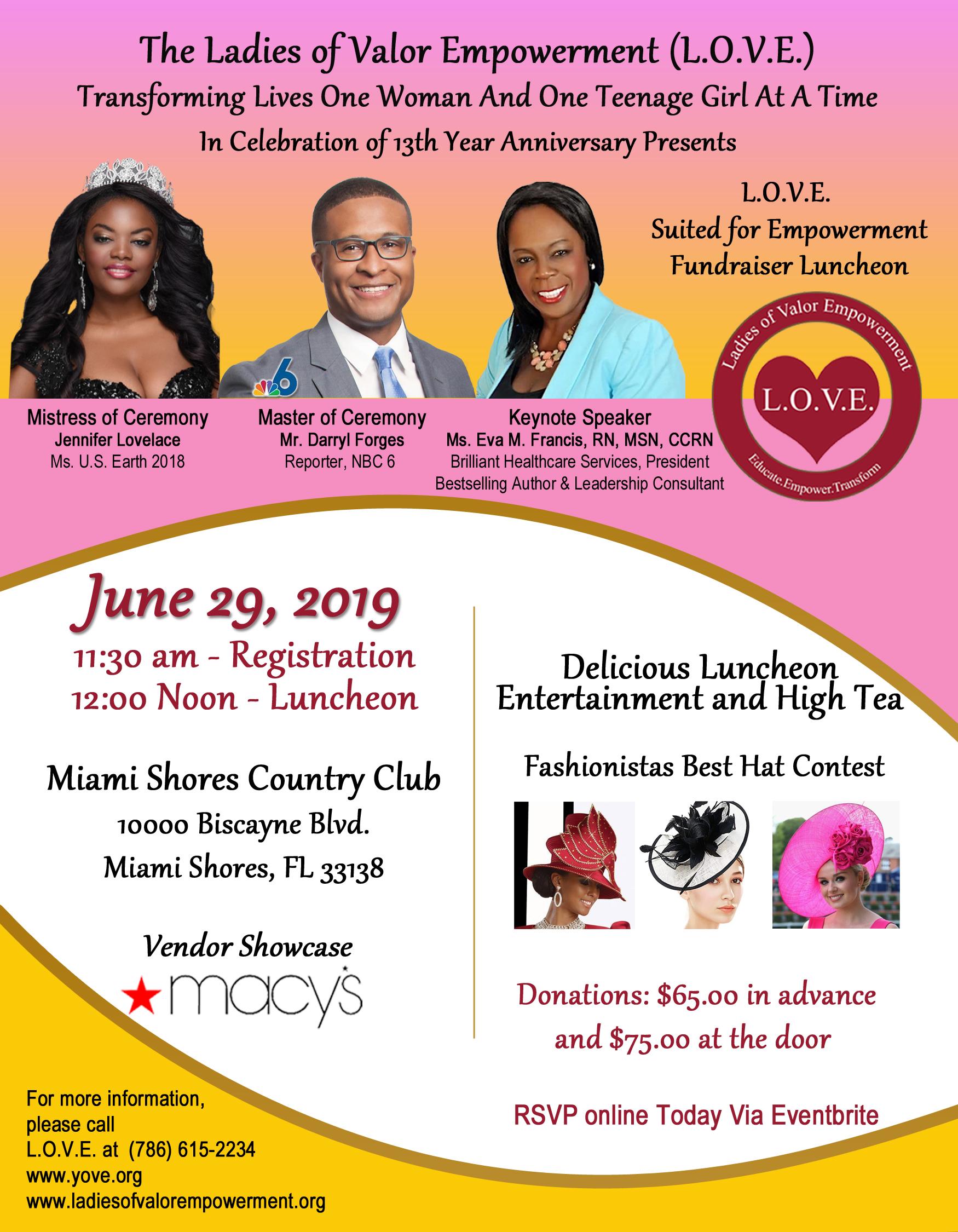 L.O.V.E. event details on June 29